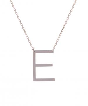 Necklace `Silverist` letter E
