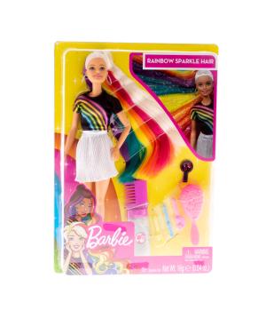 Բարբի «Barbie» ծիածան, շողշողացող Մազեր