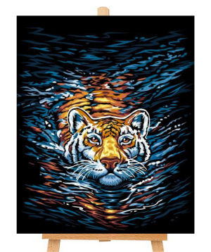 Canvas numbered `Danko Toys` Tiger