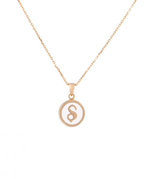 """Pendant """"Less is more"""" gold №41"""