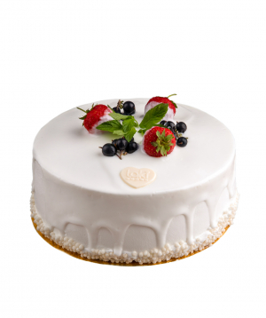 Cake with strawberries
