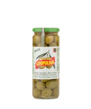 Ձիթապտուղ «Coopoliva» կանաչ 425մլ