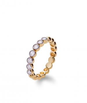 "Ring ""Lazoor"" golden, with diamond stones №20"
