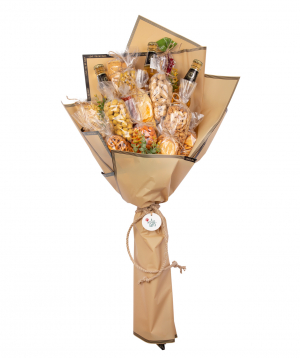 Bouquet `Nulvi` with beer and nuts