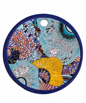 "Cheese plate ""ManeTiles"" decorative, ceramic №33"