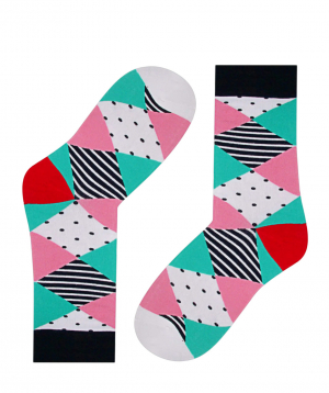 Socks `Zeal Socks` with patterns