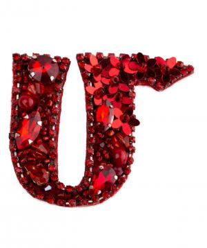"""Brooch """"LilmArt"""" handmade letter """"M"""""""