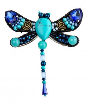 "Brooch ""LilmArt"" handmade turquoise"