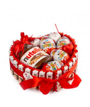 Քաղցր կոմպոզիցիա «Basic Store» սիրտ