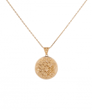 """Pendant """"Less is more"""" gold №3"""