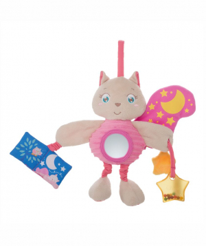 Rattle `Chicco` lullaby, squirrel, Soft Cuddles