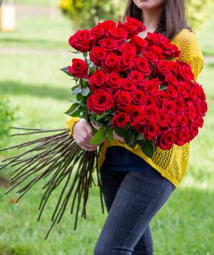 Վարդեր «Black magic» կարմիր 51 հատ