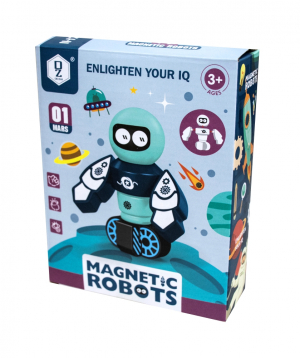 Robots constructor magnetic, in Mars