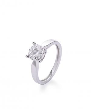 "Ring ""Lazoor"" golden, with diamond stones №10"