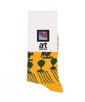 "Socks  ""Art socks"" with ""Scenery"" painting"