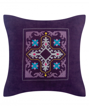 """Pillow """"Miskaryan heritage"""" embroidered with Armenian ornament №29"""