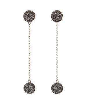 """Earrings """"DF Project"""" carpet silver №2"""