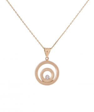 """Pendant """"Less is more"""" gold №10"""