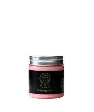 Cream `Hirik Cosmetics` exfoliator with a white rose scent