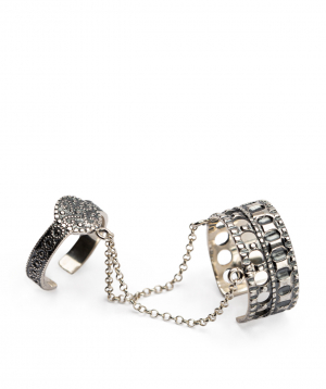 Ring `DF Project`carpet silver №1
