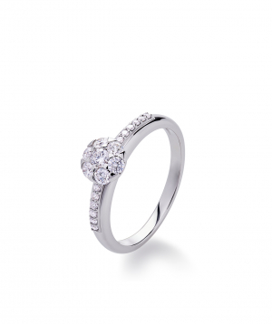 "Ring ""Lazoor"" golden, with diamond stones №18"