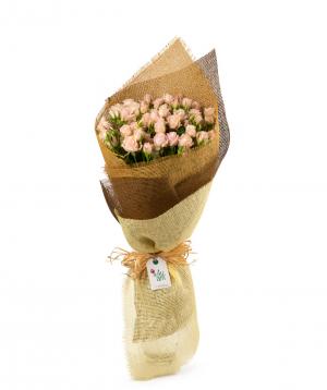 Ծաղկեփունջ «Բարլինգտոն» վարդերով
