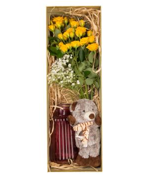 """Flowers """"Bella Flowers"""" in a box №2"""