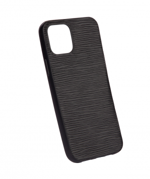 """Case """"Monarch"""" for phone, silicon, with a combination of genuine leather №2"""