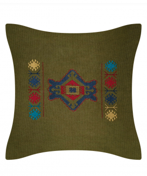 """Pillow """"Miskaryan heritage"""" embroidered with Armenian ornament №24"""