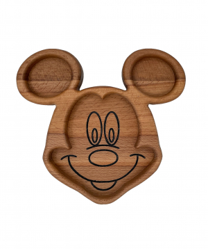 Eco plate `WoodWide` Mickey Mouse