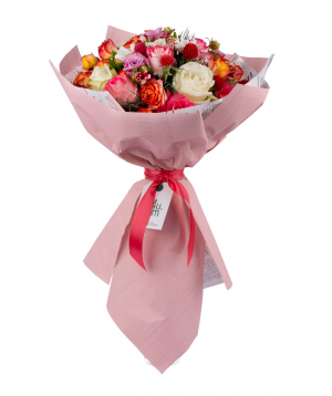 Bouquet `Tuvalu` with roses