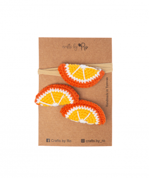 """Set """"Crafts by Ro"""" hairpins orange №3"""
