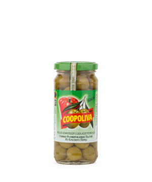 Olives `Coopoliva` green, with pepper 235 g