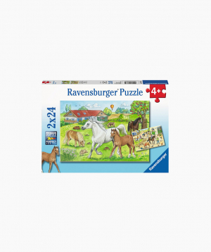 Ravensburger Puzzle At the stables 2x24p