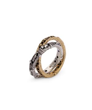 """Ring """"Kara Silver"""" Lovers"""