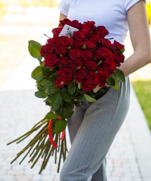 Roses «Gladiator» red 29 pcs