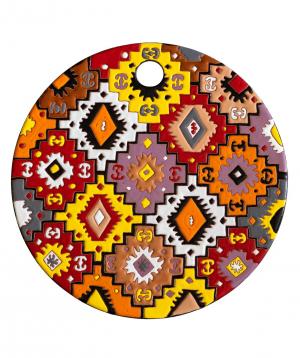 "Cheese plate ""ManeTiles"" decorative, ceramic №40"