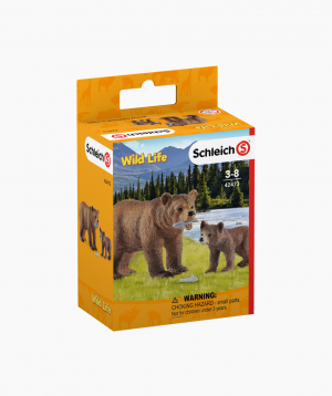 Schleich Animal figurines set «Grizzly bear mother with cub»