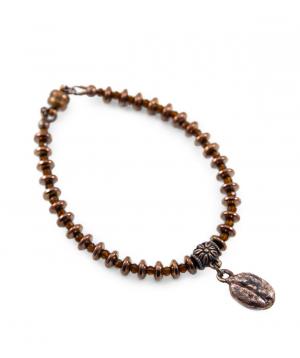 Bracelet `CopperRight` coffee bean