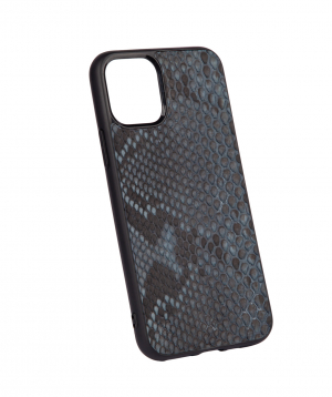 """Case """"Monarch"""" for phone, silicon, with a combination of genuine phyton leather №5"""