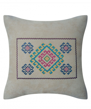 """Pillow """"Miskaryan heritage"""" embroidered with Armenian ornament №28"""