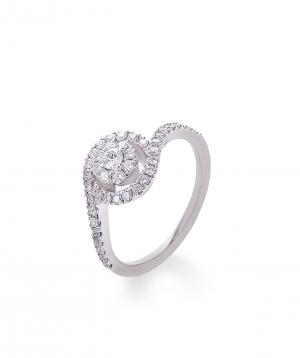 "Ring ""Lazoor"" golden, with diamond stones №3"