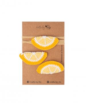 "Set ""Crafts by Ro"" hairpins lemon №4"