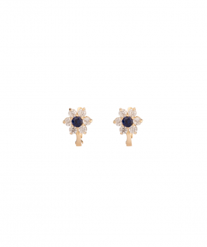 """Earrings """"Less is more"""" gold №7"""