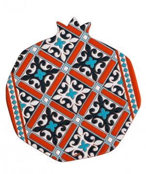 "Cheese plate ""ManeTiles"" decorative, ceramic №12"