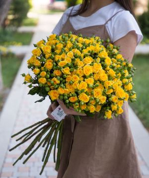 Փնջային վարդեր դեղին 20 ճյուղ