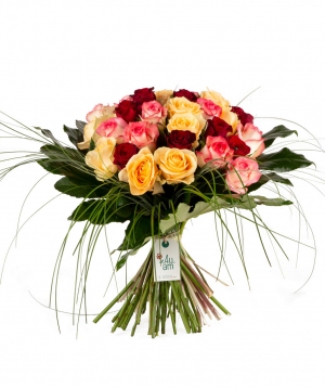"""Bouquet """"Senno"""" with roses"""
