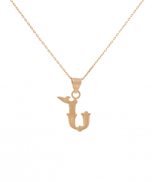 """Pendant """"Less is more"""" gold №21"""
