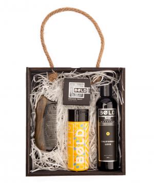 Gift box `Bold Man` for men