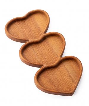 Մատուցման սկուտեղ «WoodWide» սրտեր, էկո